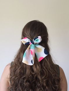 Neon Colors Polka Dots Patterned Satin Bow Tie Hair by designscope, $18.50