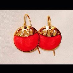 Pink & gold earrings ($4) is on sale on Mercari, check it out! http://item.mercariapp.com/gl/m769253227