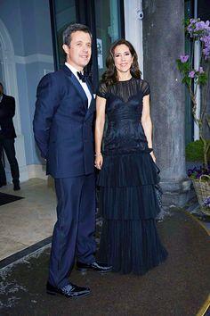 The Crown Prince Couple looking stunning, when arriving at the Hotel d'Angleterre's 260th birthday gala on Saturday, April 25th.