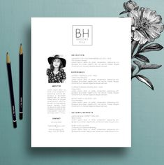 Modern Resume Template Professional CV Template, MS Word, Creative Resume Template, Simple Resume, Teacher Resume, Instant Download, Brooke