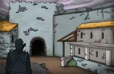 JAVIER ARRÉS ILLUSTRATION: Scene presentation card for RPG fantasy app videogame. (without frame)  http://www.illustratorfreelance.com/