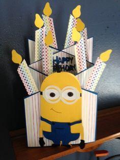 Minon Birthday Card