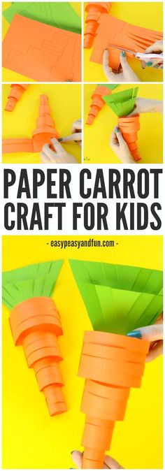Paper Carrot Craft for older kids! A great spring activity for a farm or Easter unit!