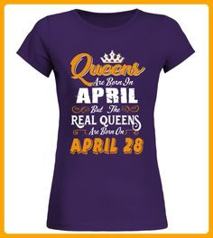 Real Queens are born on April 28 - Yoga shirts (*Partner-Link)