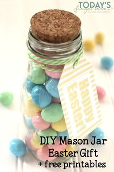 Free easter printable plus instructions on how to paint mason jars diy mason jar easter gift free printable negle Image collections