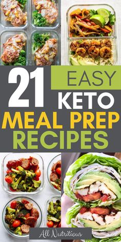 Try these easy keto meal prep dishes. These will help you to stay on a ketogenic diet even with a very busy lifestyle. Try these easy keto meal prep dishes. These will help you to stay on a ketogenic diet even with a very busy lifestyle. Easy Keto Meal Plan, Diet Meal Plans To Lose Weight, Ketogenic Diet Meal Plan, Ketogenic Recipes, Diet Recipes, Healthy Recipes, Ketogenic Lifestyle, Diet Menu, Dessert Recipes