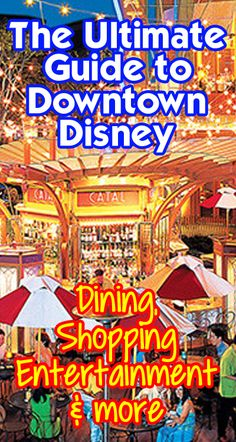 Your guide to everything in Downtown Disney. Restaurants (with menus and hours of operation), shopping, entertainment, and the best breakfast picks at DTD. Map included!