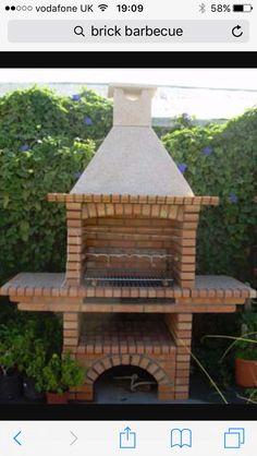 Outdoor Cooking Area, Outdoor Oven, Pergola, Gazebo, Garden Bbq Ideas, Brick Grill, Small Back Gardens, Stone Bbq, Garden Wall Designs