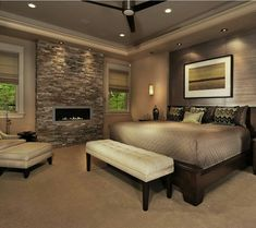 Love the fire place and wall