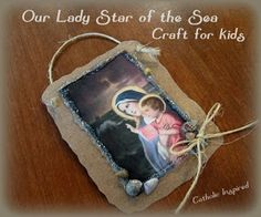 Here's a beautiful and easy craft for kids to make - To Honor Our Lady Star of the Sea! - Catholic Inspired