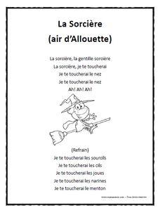 Chanson vieille sorci re imprimer en pdf halloween - Faire une sorciere pour halloween ...