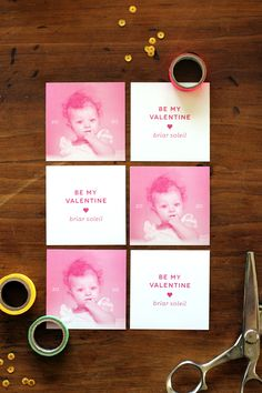 Simple DIY Valentines Using Digital Brushes + Free Download! | Ann-Marie Loves