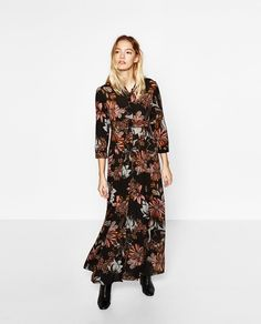 LONG DRESS WITH FLORAL PRINT-DRESSES-WOMAN | ZARA United States