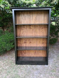 Bookcase - Solid Wood Bookcase With Bead Board Back