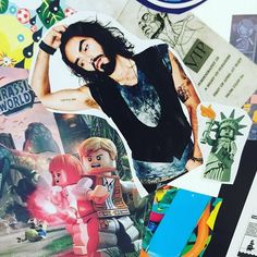 Russell Brand made it to our mood board wall! Go Russell! Russell Brand, Brainstorm, Wall Collage, Advertising, Mood, Music, Instagram Posts, Anime, How To Make
