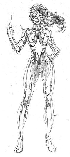 Star Sapphire Carol Ferris - Art by Brett Booth Comic Book Artists, Comic Artist, Comic Books Art, Brett Booth, Ninja, Hq Dc, Anime Comics, Dc Comics, Pictures To Draw