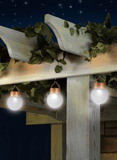 Amazon.com : Set Of 3 Solar Powered Globe Lamps : Outdoor Decor :