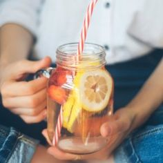 Are you drinking enough water every day? There are so many positives associated with drinking water--including well-hydrated skin--and it's calorie free. Drink up! Recipe Scrapbook, Drinking Water, Punch Bowls, Candle Jars, Beauty Hacks, Wellness, Diet, Canning, Drinks