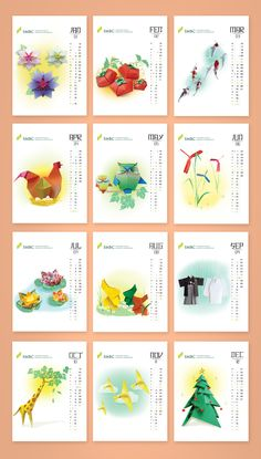 Sumitomo Mitsui banking corporation calendar 2015 on Behance