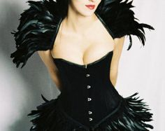 Coque Feather Collar/Shrug/Wings - Black, Blue, Pink, Purple or White - Gothic, Wedding, Clubwear,Evening Wear - Handmade by HERESY!