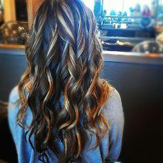 brown hair caremal highlights