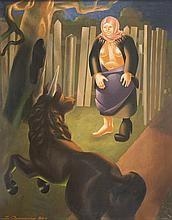 VLADIMIR OVCHINNIKOV (RUSSIAN 1911-1984)Lady and