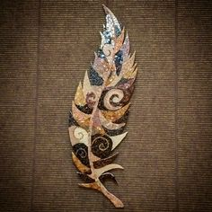 """Feather"" mosaic by Julia Gorbunova"