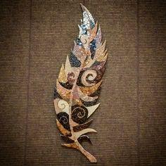 """Feather"" mosaic by Julia Gorbunova"
