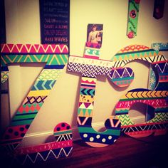 Tribal letters. So adorable. I would love to make these TPA