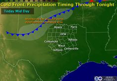 Friday Weather Roundup - Active Wx This Afternoon for North Texas Good morning and TGIF! With the exception of some ongoing precip north of Lubbock, conditions are pretty calm across the state right now, but things will begin to pick up by this afternoon as a cold front pushes through northern Texas sparking off a line of showersand strong storms. The cold ... Read the whole article at http://texasstormchasers.com/?p=32515 - Jenny Brown