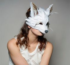 Hauntingly crafty and elegant Halloween party ideas, keep it for the festival season too - Stunning White fox mask