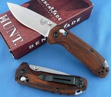 Couteau Benchmade North Folk Acier S30V Manche Bois Made In USA BN15031_2 - Free Shipping Couteaux BENCHMADE