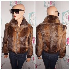 """Up for sale is this lovely Vintage Dino Ricco Brown Rabbit Fur Jacket Size M  Flaws: small  Material:  small area need repair  Shoulder Pads: yes Pit to Pit: """"18 Sleeve: """" 16 Overall Length: """" 22 http://ift.tt/1CopG9B #vintage #vintagefashion #vintagestyle #vintagedress #vintageshopping #shopping #ilovevintage #vintage-love #vintageclothing #vintagesale #divaxpress #followme #followmystore #vintagestore #storenvy #vintagelook #vintagefinds #vintagegirl #vintagelover  #thriftsociety #love…"""