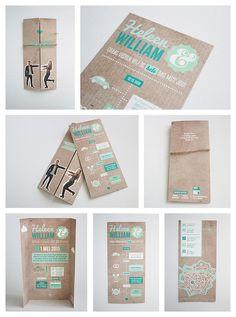 Trouwkaart. Grafisch ontwerp van trouwkaart met illustraties. www.maakvol.nl