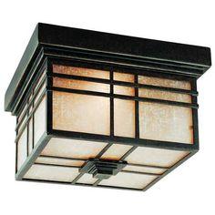 Quoizel Lighting Flushmount Outdoor Ceiling Light | HC1612IB | Destination Lighting