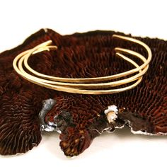 Gold+Cuff+Bracelets+Set+of+Three+by+failjewelry+on+Etsy,+$163.00