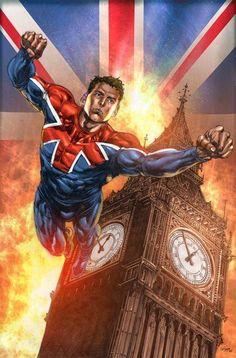 Captain Britain lines by Mico Suayan colors by Bryan Arfel Magnaye #MicoSuayan #BryanArfelMagnaye #CaptainBritain #BenOliver #BrianBraddock #Excalibur