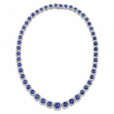 Omi Gems: Sapphire and Diamond Necklace #sapphires #jewelry
