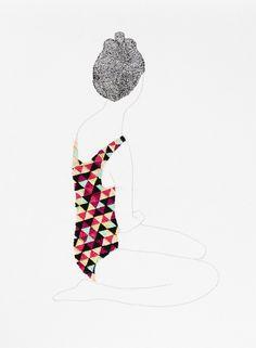 Jazmin Berakha's Embroidered Fashion Illustrations - Beautiful/Decay Artist & Design