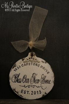 first home ornament custom stamped new house address skeleton key
