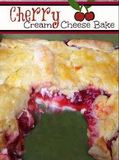 1 can cherry pie filling 8 oz cream cheese, room temperature 1/2 cup powdered sugar 1 tube crescent rolls 1/2 stick of butter 2 tbsp ...