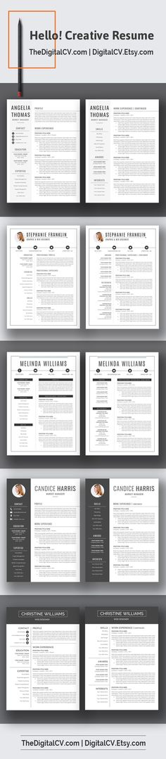 Beautiful Resume Templates Feedback From Our Beloved Customersvisit Digitalcvetsy For