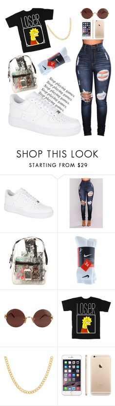 """😘"" by wavyy-rose on Polyvore featuring NIKE, Duffy, *Accessories Boutique, Cartier and Sterling Essentials"