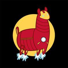 Iron Llama by on DeviantArt Llama Arts, Iron Man 3, Film Music Books, Tweety, Nerdy, Pop Culture, Marvel, Deviantart, Cartoon