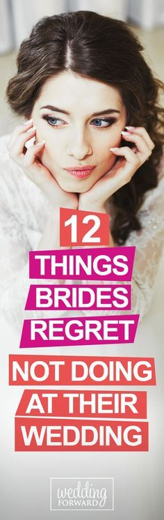 Wedding days are filled with many do's and don'ts but there are a few things that #brides often regret not doing at their #wedding... http://www.weddingforward.com/things-brides-regret-not-doing-at-their-wedding/ #weddings #weddingplanning
