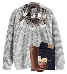 """""""four day weekend starts today"""" by madelinelurene ❤ liked on Polyvore featuring Aggie Gray, Abercrombie & Fitch, Maybelline, Le Labo, Casetify, Just Peachy and Tory Burch"""