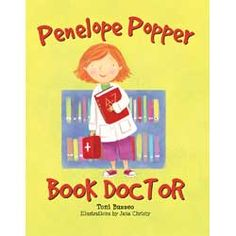 Penelope Popper, Book Doctor: In this gentle story of dedication and perseverance, one small girl rises to great heights as she learns to heal her library, one book at a time. Library Lesson Plans, Library Skills, Library Lessons, Reading Lessons, Reading Resources, Reading Strategies, Reading Library, Library Books, Library Ideas