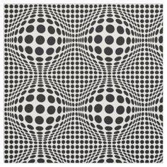 Op Art Dots Fabric
