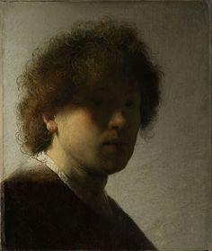 Rembrandt van Ryn, Self-Portrait as a Young Man, c. 1628-29