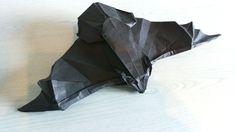 Murcielago de Lafosse plegado en papel Biotope de 35x35mm